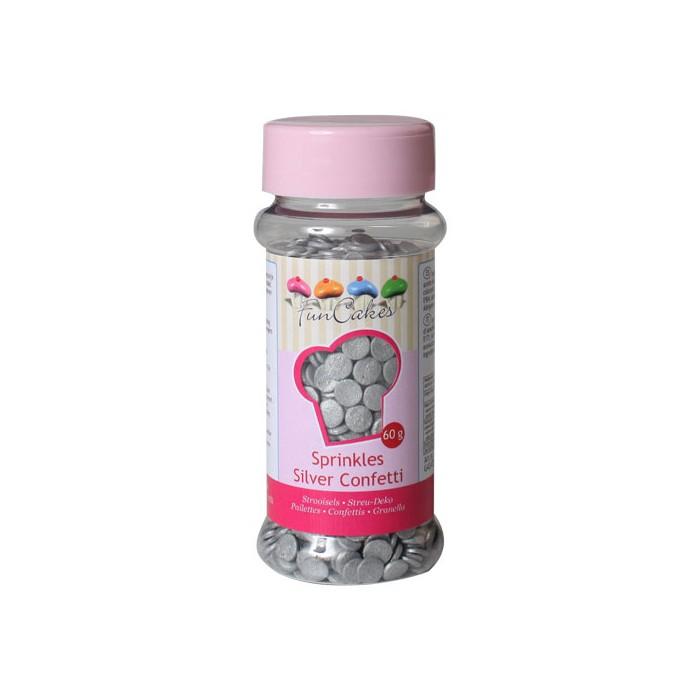 Confeti de azúcar Plata - Funcakes