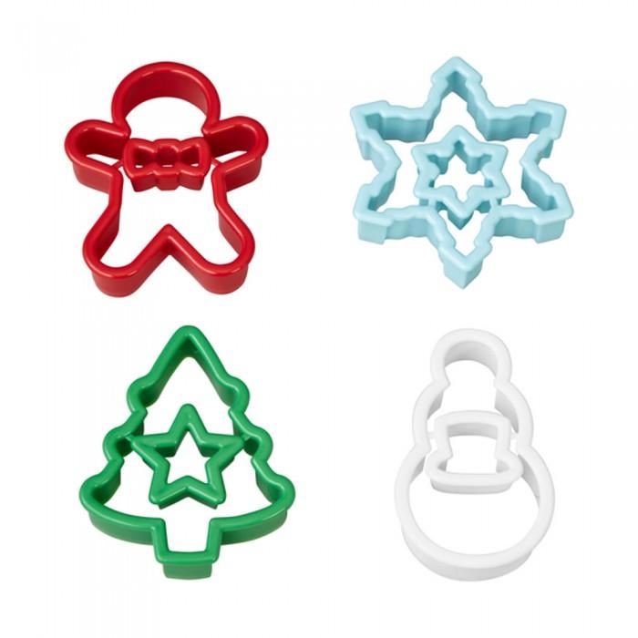 Set de 4 cortadores Navidad - Wilton