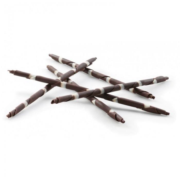 Panatella de chocolate negro y rayas blancas Barry