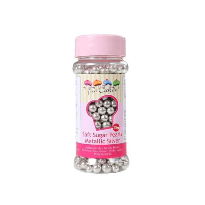Perlas plateadas grandes - Funcakes