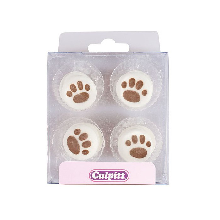 Set de 12 huellas de perro de azúcar Culpitt