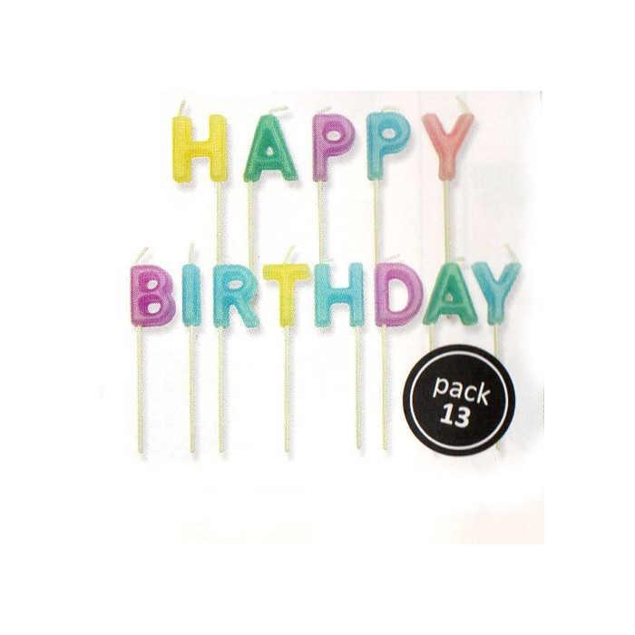 "Velas letras ""Happy Birthday"""