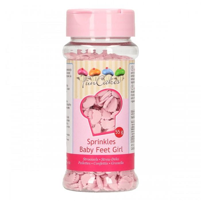 Piececitos de bebé rosas 55g - Funcakes
