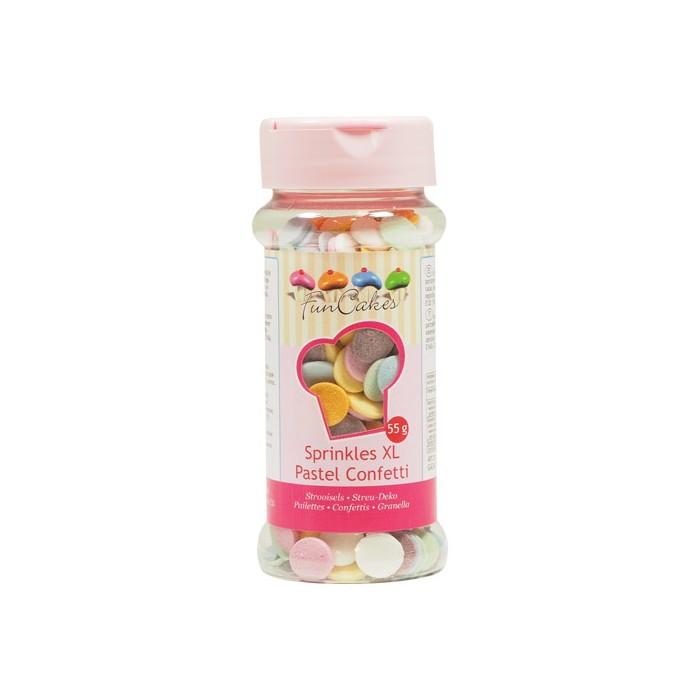 Sprinkles conffeti XL tonos pastel - Funcakes