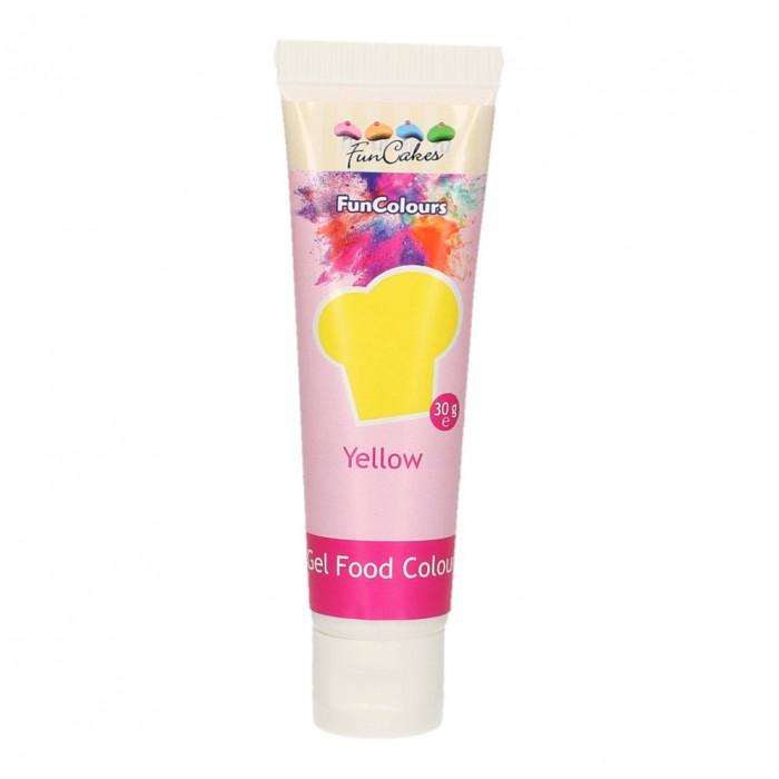 Colorante FunColours Gel Amarillo 30g - Funcakes
