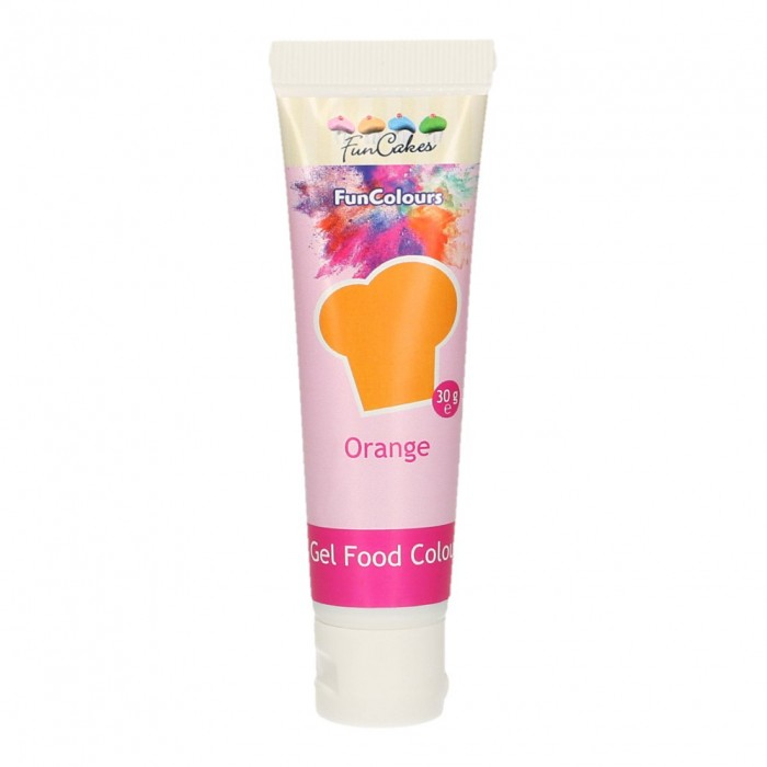 Colorante FunColours Gel Naranja 30g - Funcakes