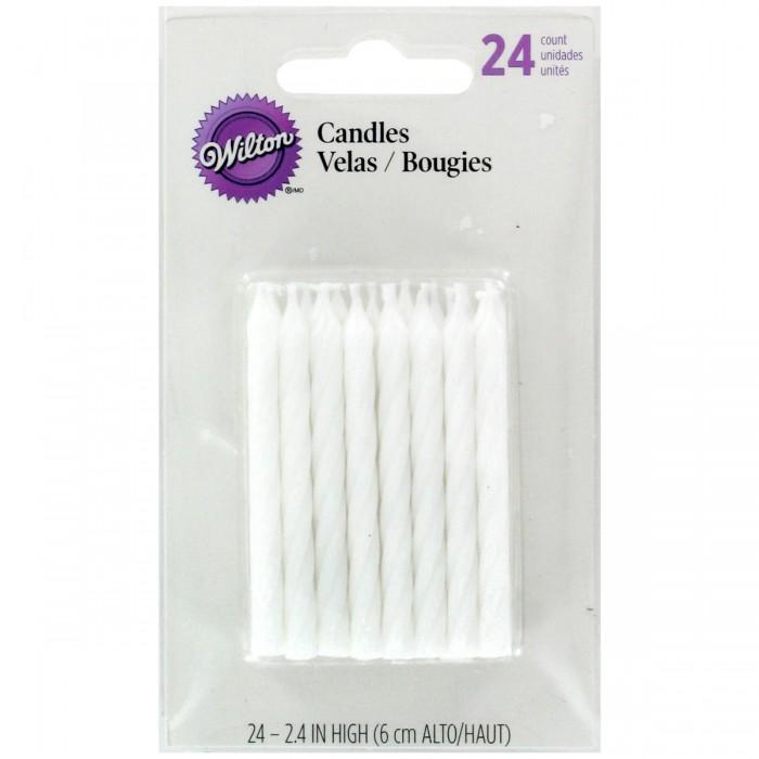 Set de velas blancas (24) - Wilton