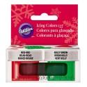 Kit de colorantes Rojo y Verde Navidad - Wilton