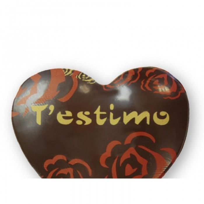 Corazón chocolate T'estimo pequeño