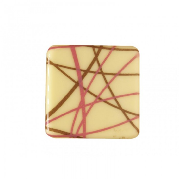 Cuadrado chocolate líneas cruzadas, 3 unid.