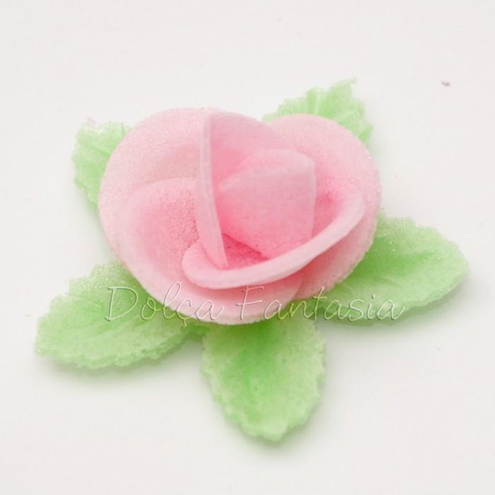 Set de 3 Rosas de oblea color rosa
