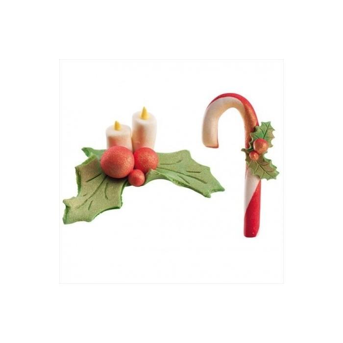 Figuritas Navidad azúcar Centro/Bastón - Dekora
