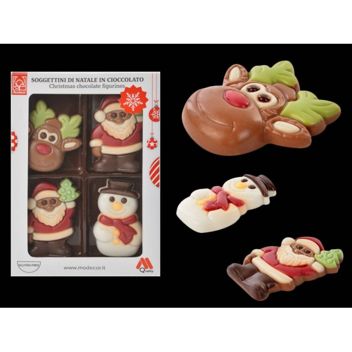 Pack Figuras Navidad Chocolate Modecor