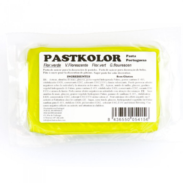 Fondant Verde fluorescente PastKolor