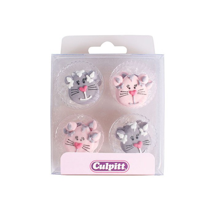 Set de 12 gatos de azúcar - Culpitt