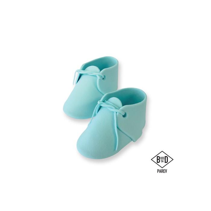 Patucos de bebé de azúcar azules - PME