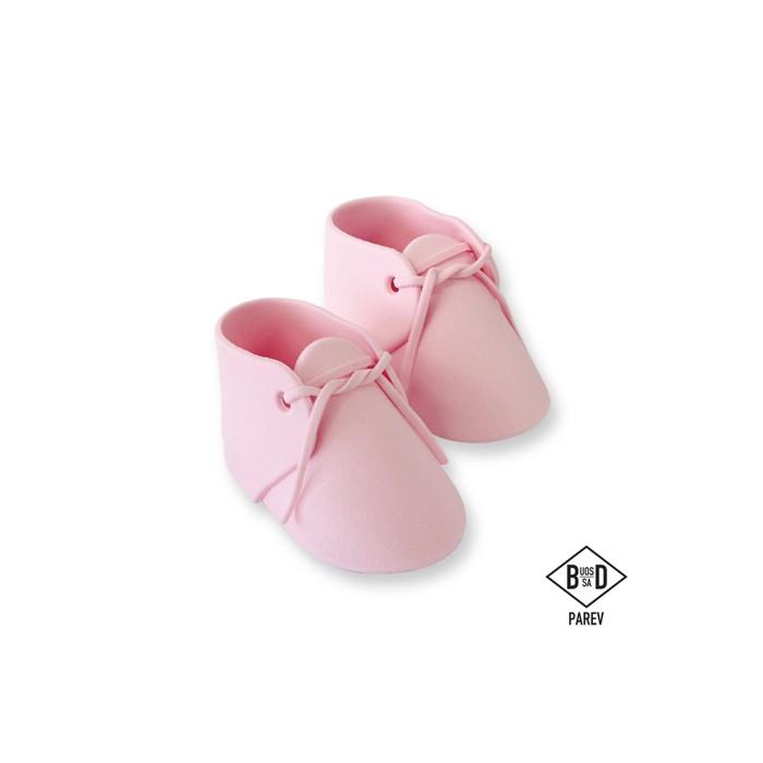 Patucos de bebé de azúcar rosas - PME