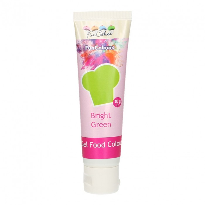 Colorante FunColours Gel Verde Brillante 30g - Funcakes