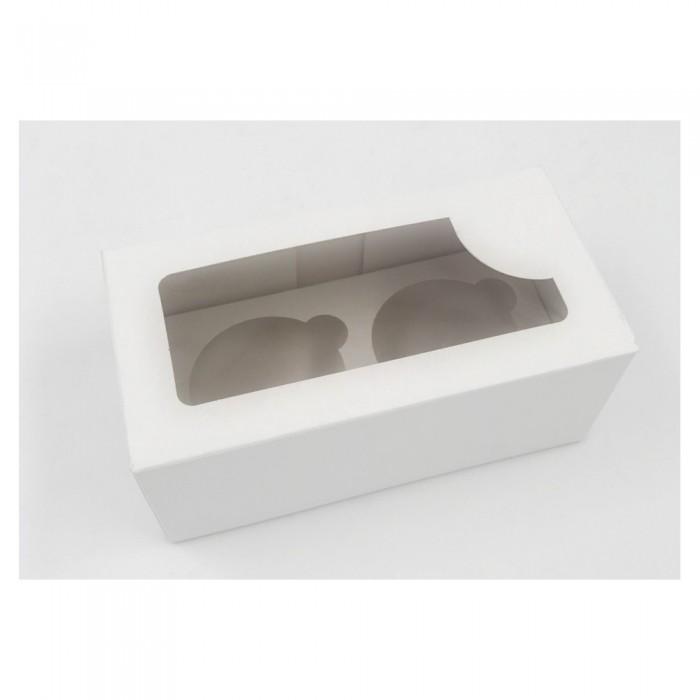 Caja transportadora 2 Cupcakes Blanco