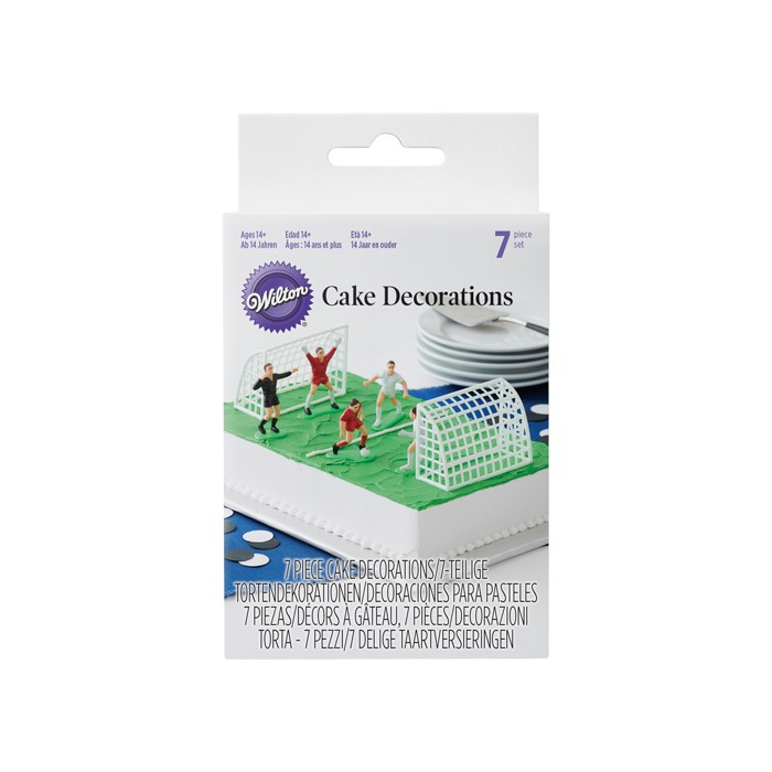 Set decorativo figuras de Fútbol Wilton