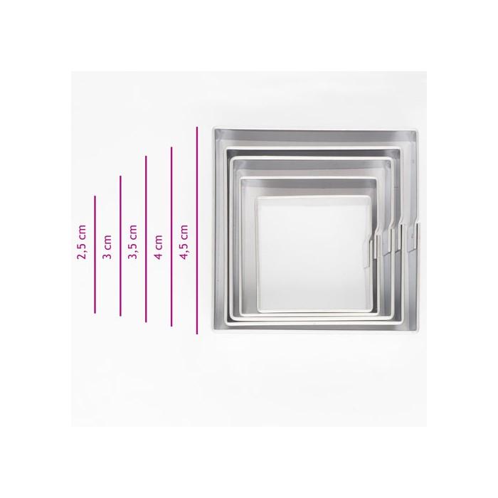 Set 5 cortadores cuadrados