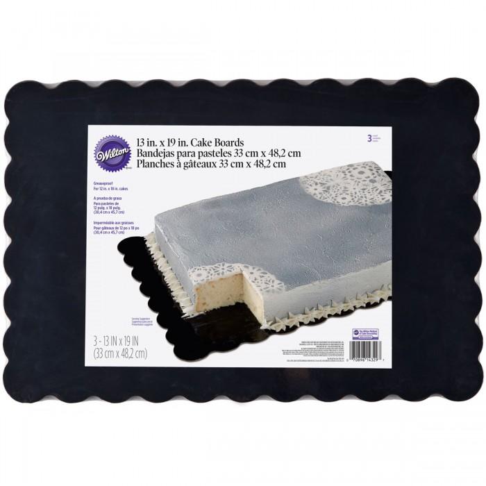 Bandeja Wilton negra rectangular