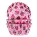 Cápsulas con dibujos cupcakes rosas (50) - House of Marie