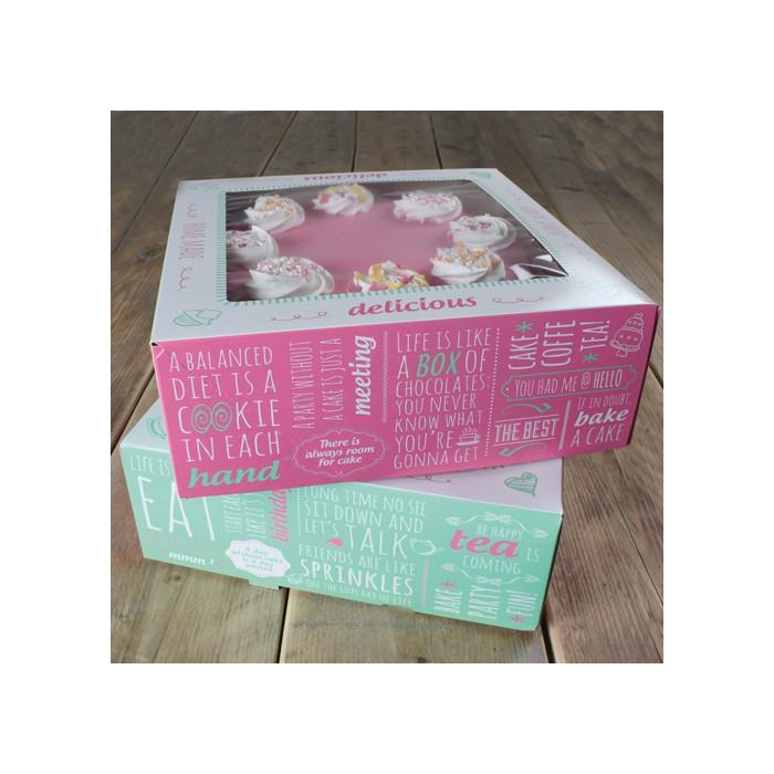 Set de 2 cajas para tartas de 21 x 21 x 9 cms. - Funcakes