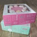 Set de 2 cajas de 21 x 21 x 9 cms. diseño Quotes - Funcakes