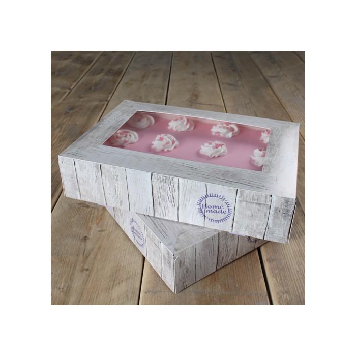 Pack de 2 caja para tartas diseño Pure - 36 x 25 x 8 cms. - Funcakes