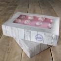 Pack de 2 cajas para tartas diseño madera 36 x 25 x 8 cms. - Funcakes