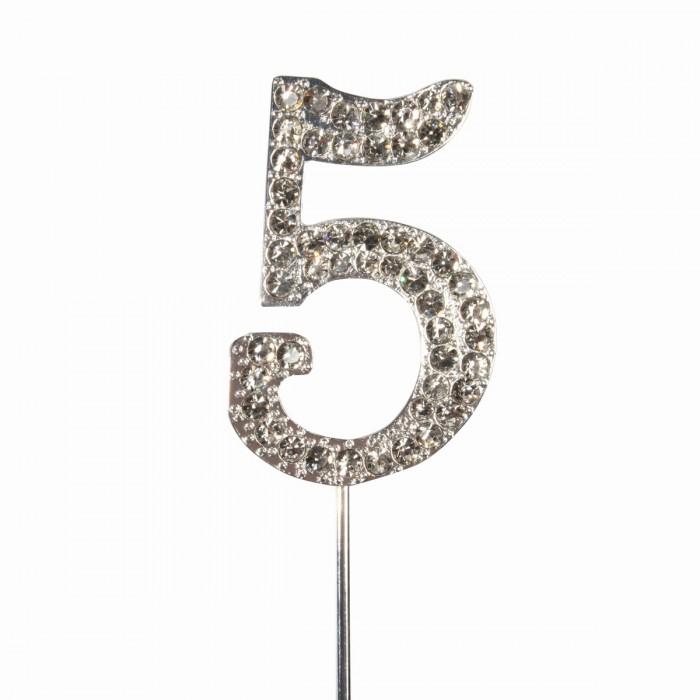 """Cake Topper Diamante """"5"""""""