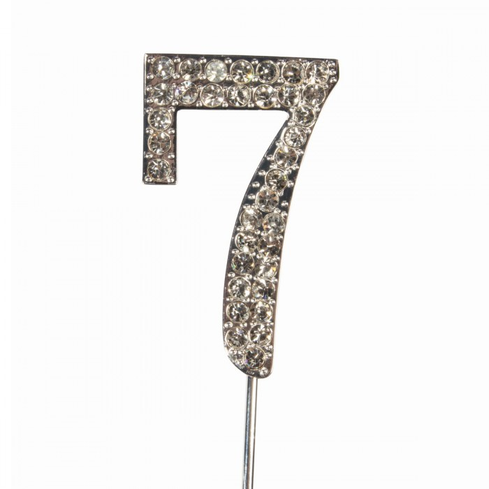 """Cake Topper Diamante """"7"""""""