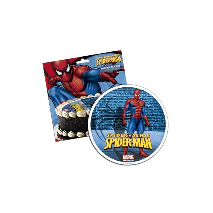 Disco comestible Spiderman 16 cm Dekora