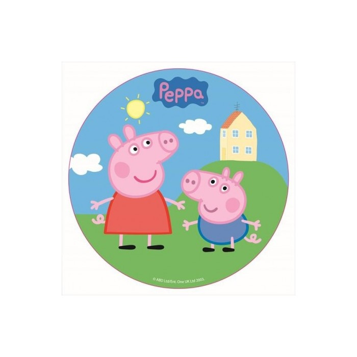 Disco comestible Peppa Pig 16 cm Dekora