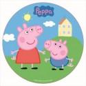 Disco comestible Peppa Pig 16 cm - Dekora