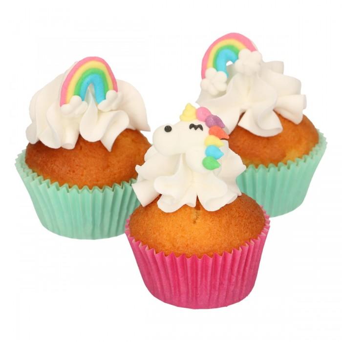 Set de Unicornios y Arcoiris de azúcar, 8u - Funcakes