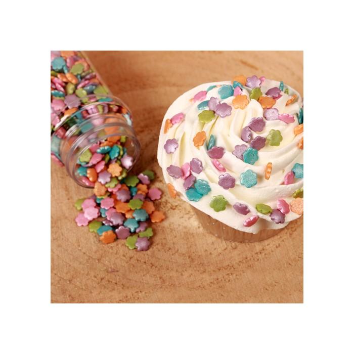 Mezcla Confeti Flores Metalizadas, 70g - Funcakes