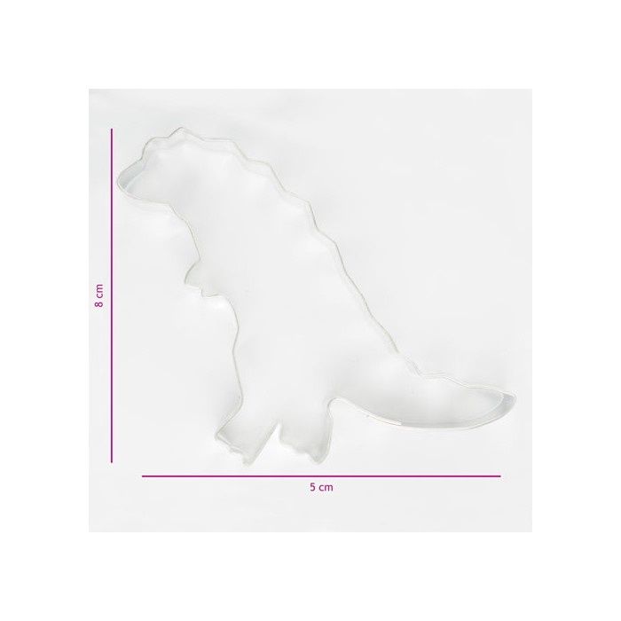 Cortador galleta metálico Dinosaurio 8 cm