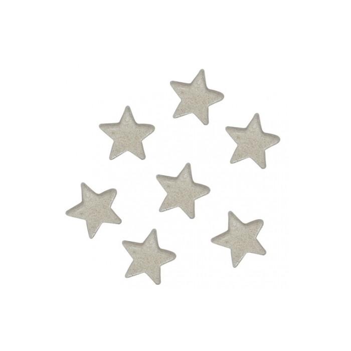 Estrellas de azúcar blancas perladas - Funcakes