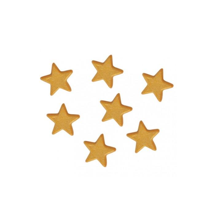 Estrellas de azúcar doradas - Funcakes