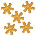 Copos de nieve de azúcar dorados - Funcakes
