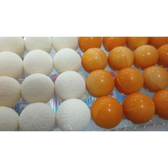 Bola chocolate blanca/dorada 3 cm