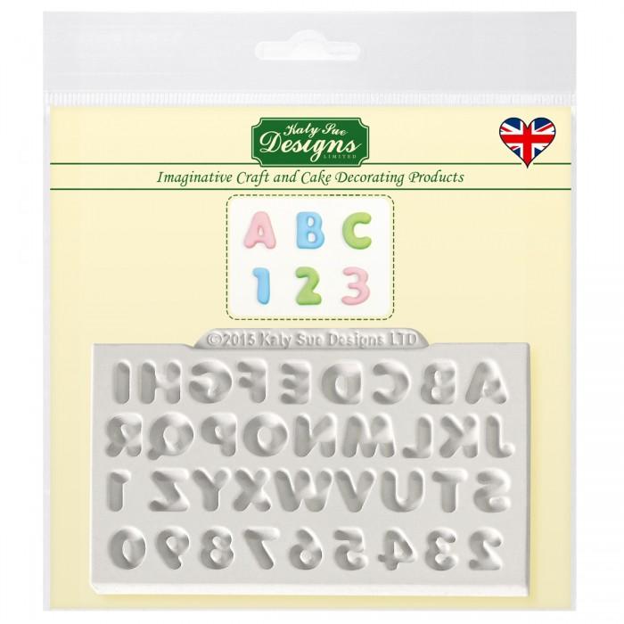 Molde silicona letras y números Katy Sue