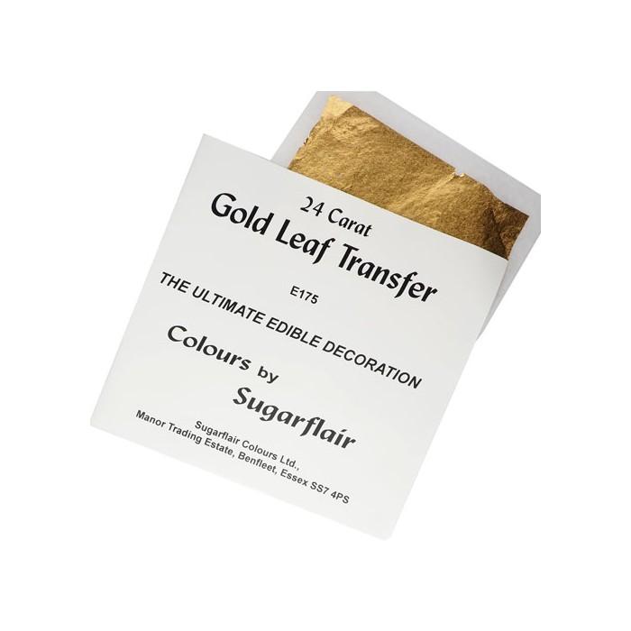 Lámina de Oro de 24 K Sugarflair