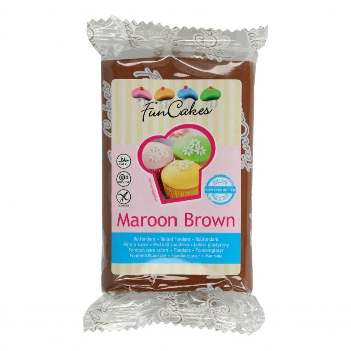 Fondant Marrón Funcakes 250 g