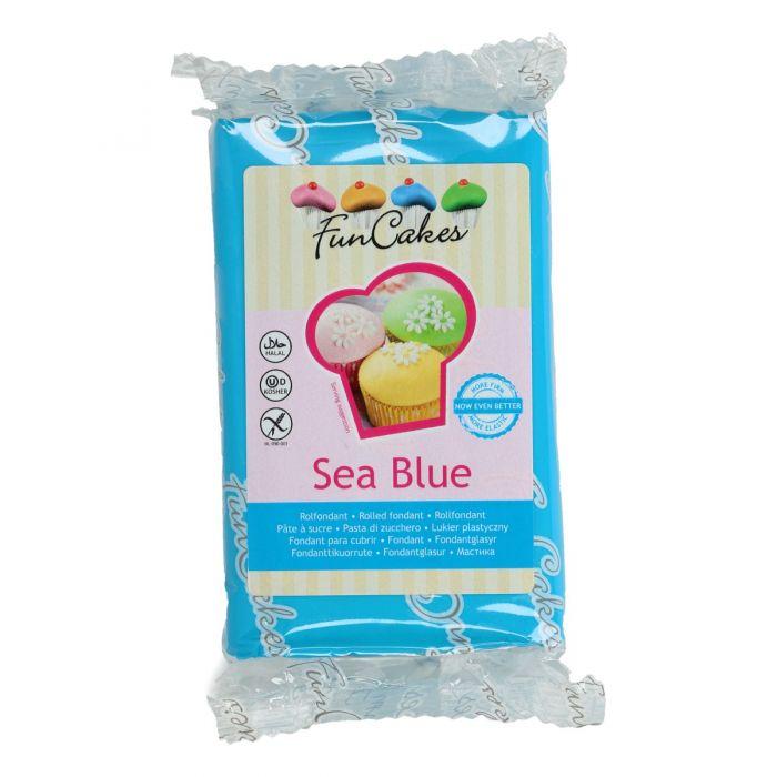 Fondant azul 250 g - Funcakes