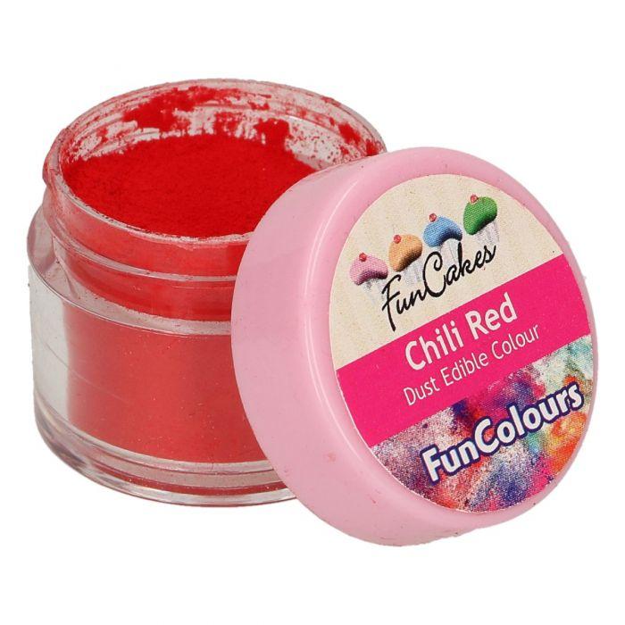Colorante en polvo color rojo chili - Funcakes