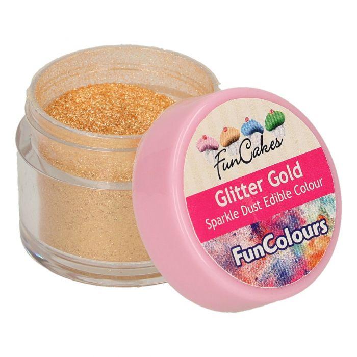 Purpurina comestible dorada - Funcakes
