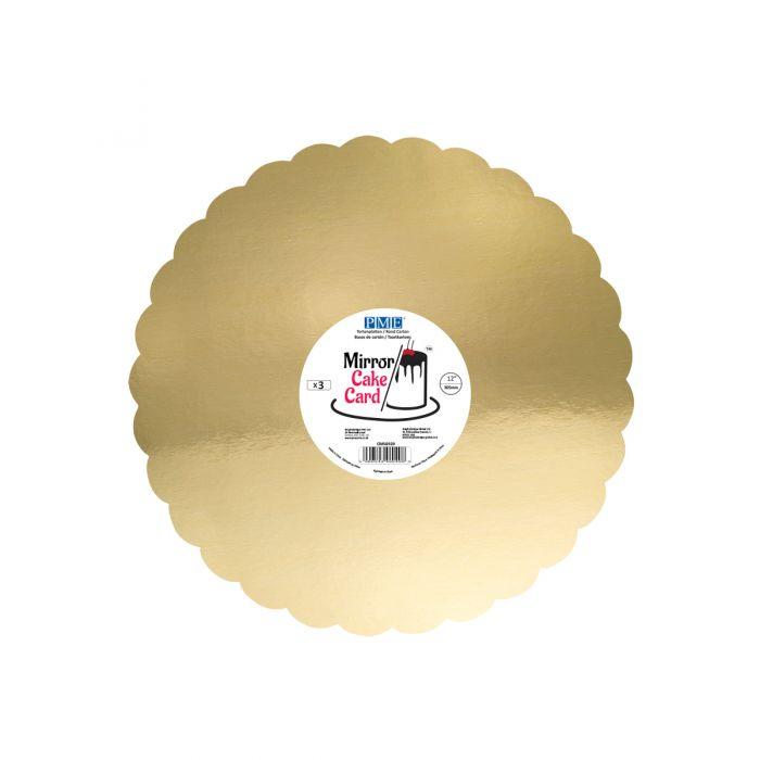 Set de 3 bases doradas 30 cms - PME